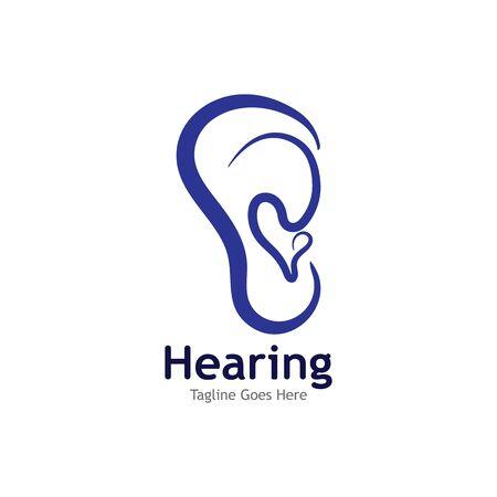 Hearing Logo Template vector icon illustration design