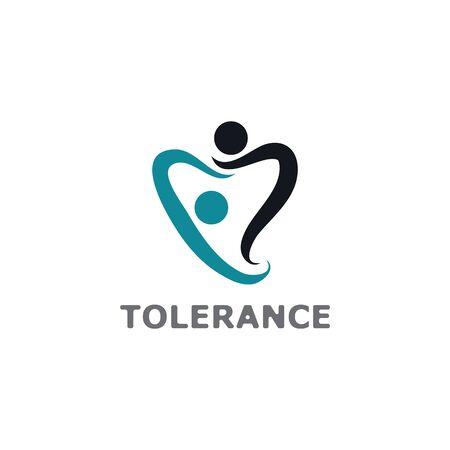 Social Network Team Partners Family Friends logo design vector template