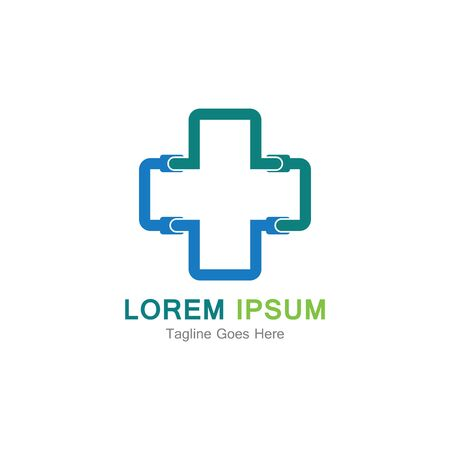 Medical cross vector icon illustration design template