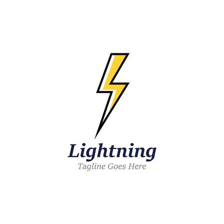 Creative Thunderbold Concept Logo Design Template