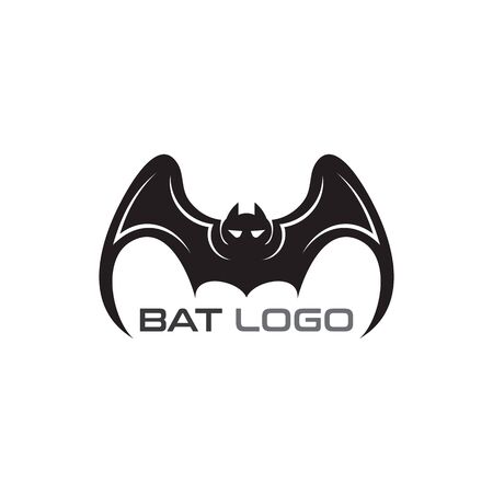 Bat open wings Logo concept elements icon template Ilustração