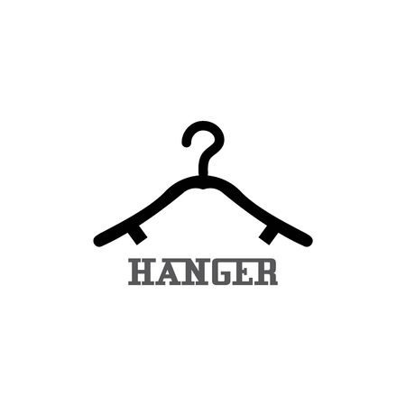Hanger cloth icon flat design concept vector template