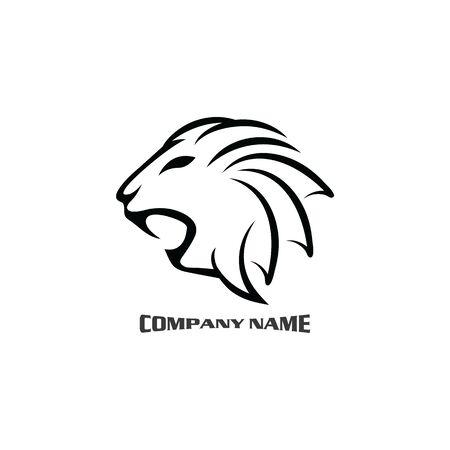 Lion head logo vector, creative graphic illustration design Logo