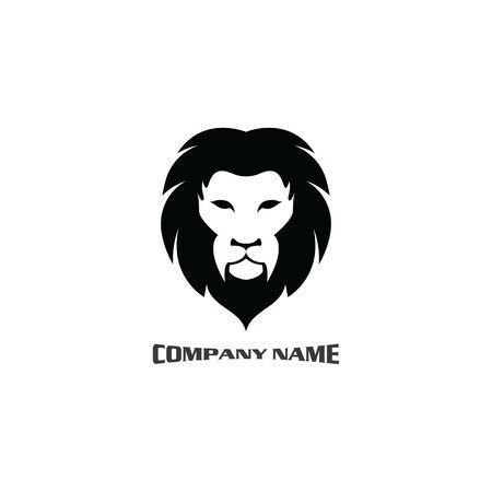 Lion head logo vector, creative graphic illustration design