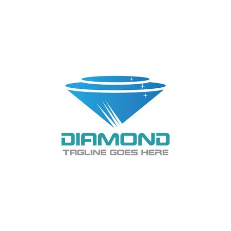 Diamond Logo Template Design, Emblem, Concept Design, Creative icon