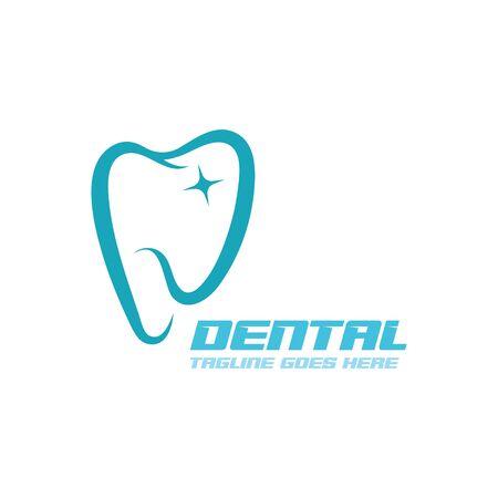 Logo de soins dentaires modèle icône illustration vectorielle conception