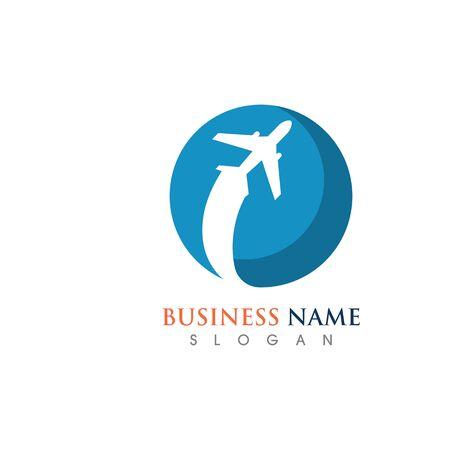 Air Travel in World Logo Template Design Creative Symbol, Icon