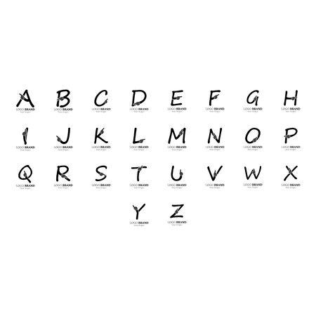 Alphabet with hand logo creative concept template design Ilustrace