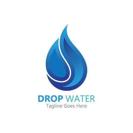 Goutte d'eau créative Logo ou icône Illustration vectorielle de modèle
