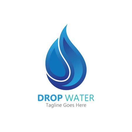 Kreative Wassertropfen Logo oder Symbol Vorlage Vektor-Illustration