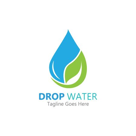 Creative Water drop Logo or icon Template vector illustration