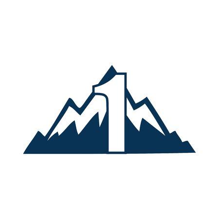 NUMBER Creative logo and symbol template design Фото со стока - 137840228