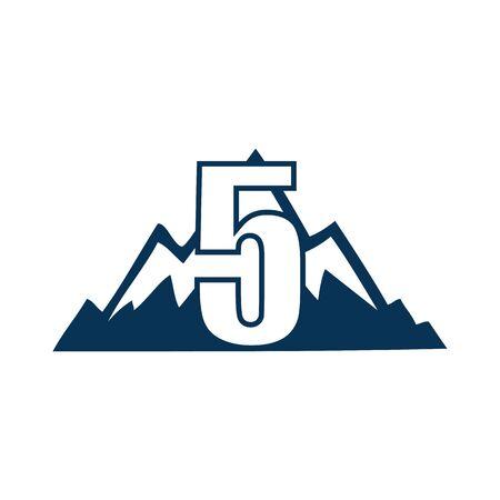 NUMBER Creative logo and symbol template design Фото со стока - 137840233