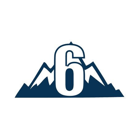 NUMBER Creative logo and symbol template design Фото со стока - 137840235