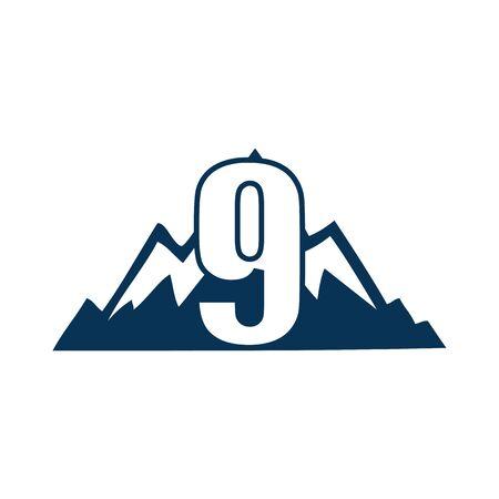 NUMBER Creative logo and symbol template design Фото со стока - 137840239