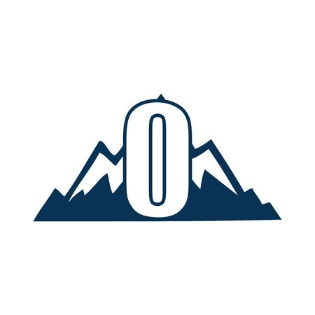 NUMBER Creative logo and symbol template design Фото со стока - 137840240