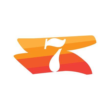 Number 7 Creative logo illustration symbol template Иллюстрация
