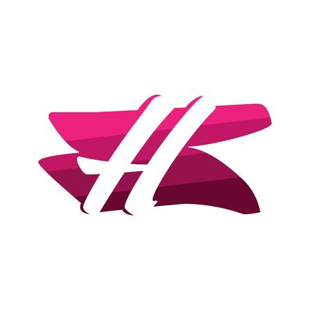 Letter H Creative logo and symbol illustration design Фото со стока - 137841210