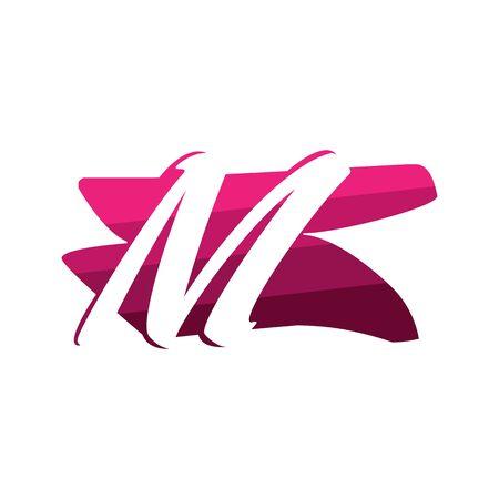 Letter M Creative logo and symbol illustration design