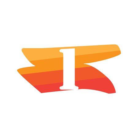 Number 1 Creative logo illustration symbol template