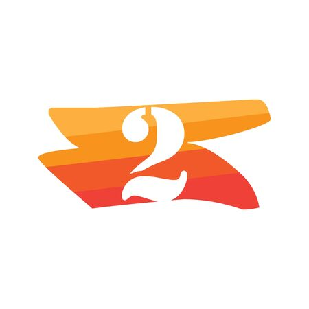 Number 2 Creative logo illustration symbol template Фото со стока - 137841241