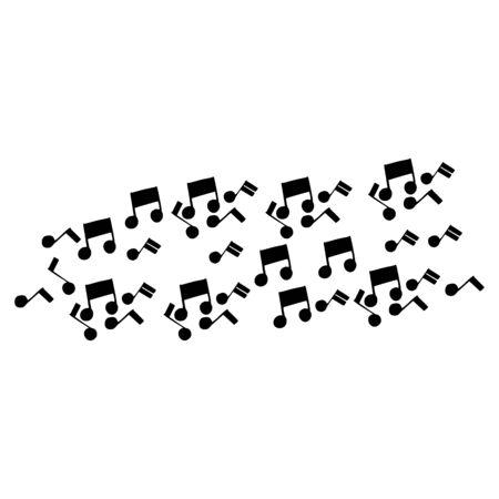 Music notes waving, music background, vector illustration icon Фото со стока - 137791365