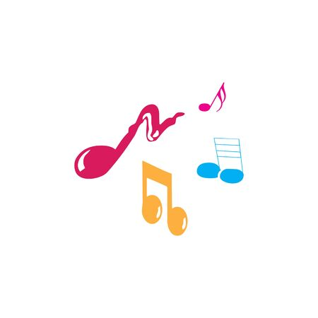 Music notes waving, music background, vector illustration icon Фото со стока - 137841244