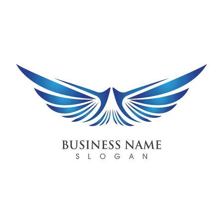 Flügel Logo Vorlage Vektor Illustration Konzept Design
