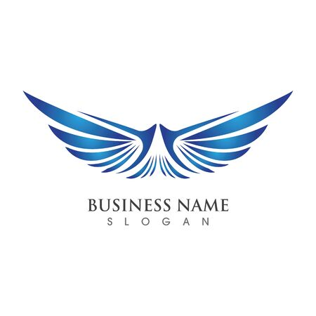 Wing Logo Template vector illustration concept design