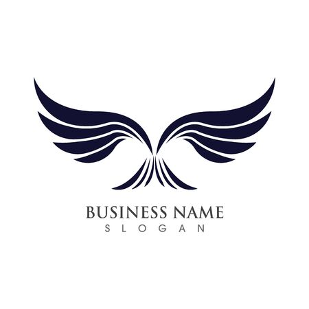 Diseño de concepto de ilustración de vector de plantilla de logotipo de ala Logos