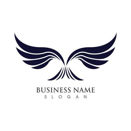 Flügel Logo Vorlage Vektor Illustration Konzept Design Logo