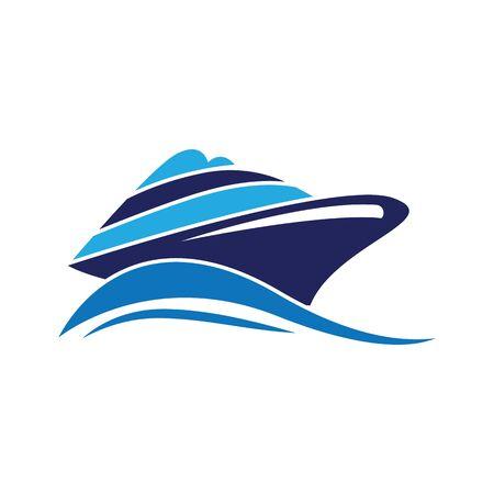 Statek wycieczkowy Logo Prosty szablon wektor ikona designu