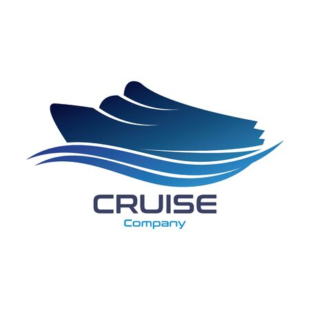 Cruise Ship Ocean Logo Template vector icon design