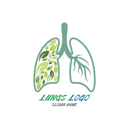 Lungs Organ Logo medical health design template vector