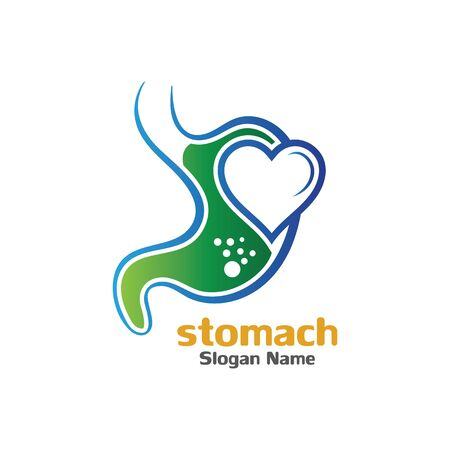 Magen-Pflege-Symbol-Logo-Design-Konzept-Vektor-Illustration