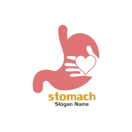 Stomach care icon logo designs concept vector illustration