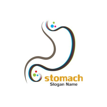 Stomach care icon logo designs concept vector illustration Çizim