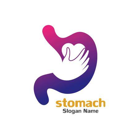 Stomach care icon logo designs concept vector illustration Logo