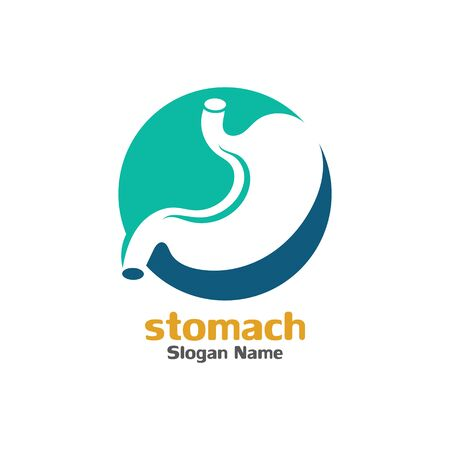 Stomach care icon logo designs concept vector illustration Illustration