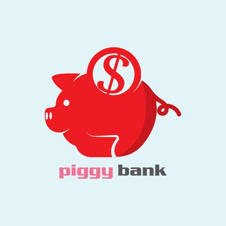 Piggy Bank icon vector illustration logo template for many purpose