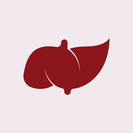 Liver Icon Flat logo Style Organs Of The Human template Design