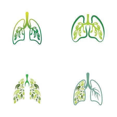 Lungs Organ medical clinic health vector logo design template Ilustração