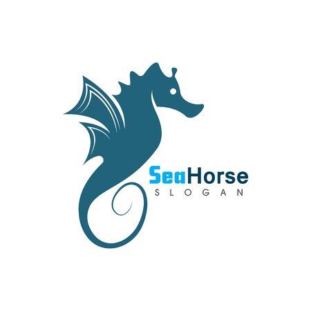 Sea Horse icon logo and symbol creative vector illustration Иллюстрация
