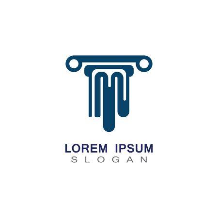 Column Logo and symbol Template vector illustration design