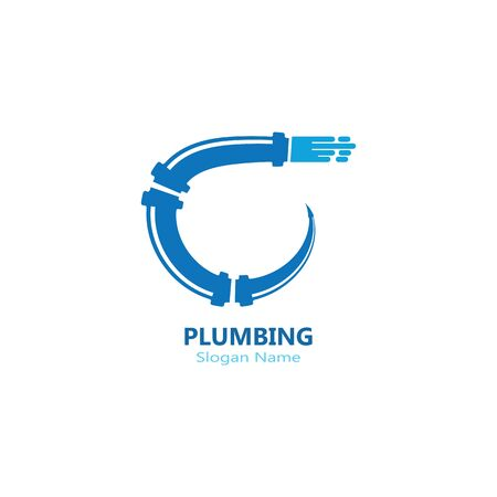 Plumbing logo vector template illustration icon design