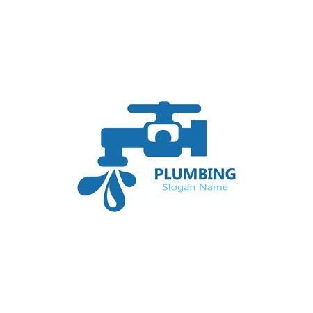 Plumbing logo vector template illustration icon design
