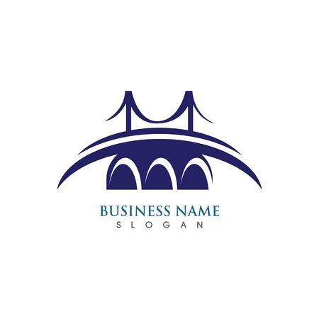 Bridge icon vector illustration Logo template design Ilustrace