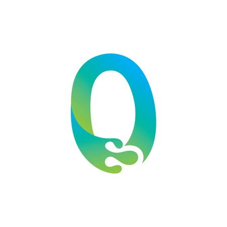 Number 0 logo design with water splash ripple template Иллюстрация