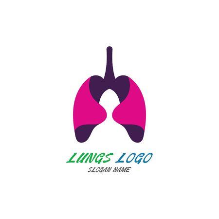 Lungs logo Organ medical Health design template vector