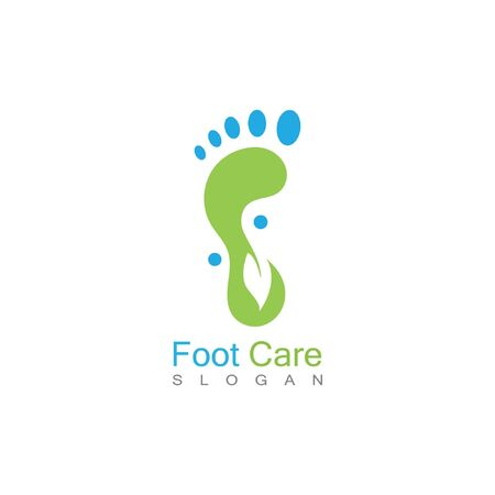 Foot Health Logo Template Design Vector, Emblem, Concept Design, Creative Symbol, Icon Ilustracja